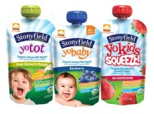 Stonyfield, Happy Family Intro Co-Branded Line Of Yogurt Pouches