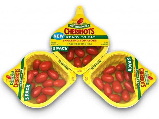 NatureSweet Cherriots Tomatoes Launch As Ready-To-Eat Snack