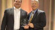 Marv Imus, principal, Imus Ventures LLC; Dr. Frank M. Gambino, professor of marketing and director of the Food/CPG Marketing Program at WMU. Imus is the 2014 Recipient of the Adrian Trimpe Distinguished Service Award.