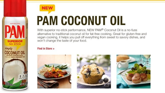 http://www.theshelbyreport.com/2014/04/17/pam-cooking-spray-introduces-coconut-oil-spray/