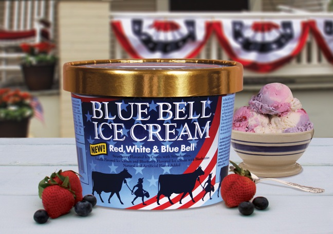 Blue Bell Introduces Red, White & Blue Bell Ice Cream