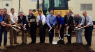 Gov. Scott Walker attends UNFI groundbreaking June 20, 2014, in Prescott, Wis.