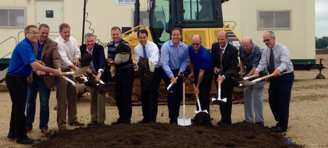 Gov. Walker Attends UNFI Groundbreaking For Second Wisconsin DC