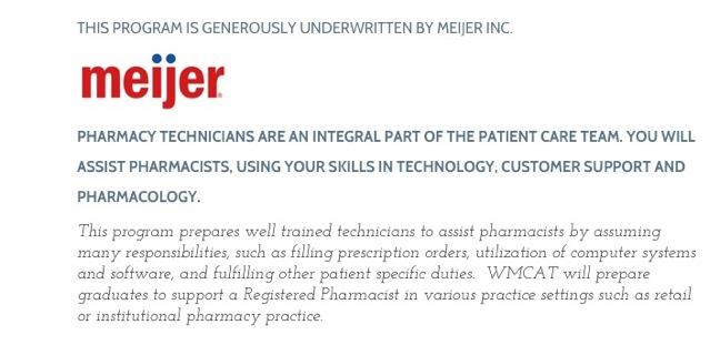 Meijer Sponsors Pharmacy Tech Training Program In Effort To Recruit Graduates