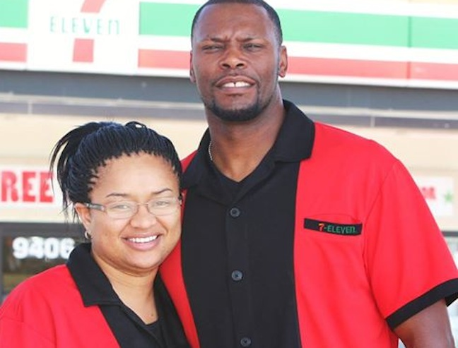 Ret. U.S. Army 1st Sgt. Charles Williams, a 7-Eleven franchisee in Copperas Cove, Texas, is among veterans who have taken advantage of 7-Eleven's franchise-fee discount for qualified military vets. His wife Theresa, a former Army transportation sergeant, will join him in franchising a second 7-Eleven store this September in Killeen, Texas.