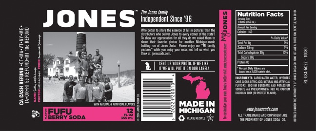 Jones Soda Launches Second Annual 'Made In Michigan' Program