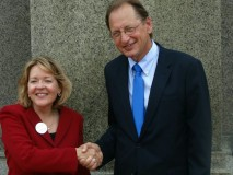 Jane Raybould and Chuck Hassebrook