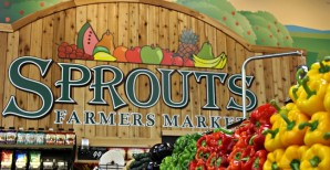 Sprouts logo on wall