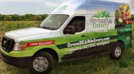 Green BEAN delivery truck