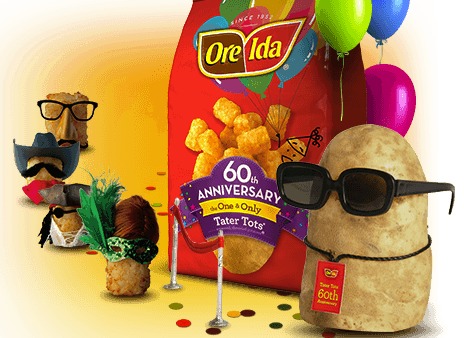 Ore-Ida Celebrates 60 Years Of The Original Tater Tots Potatoes