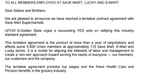 union letter to members screenshot