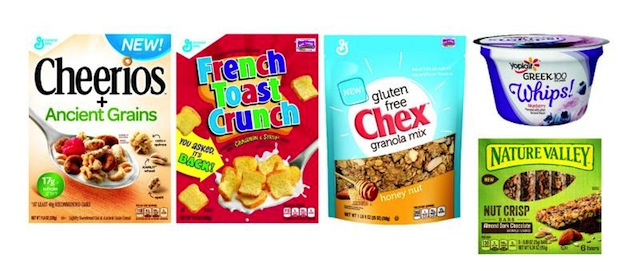 General Mills product lineup