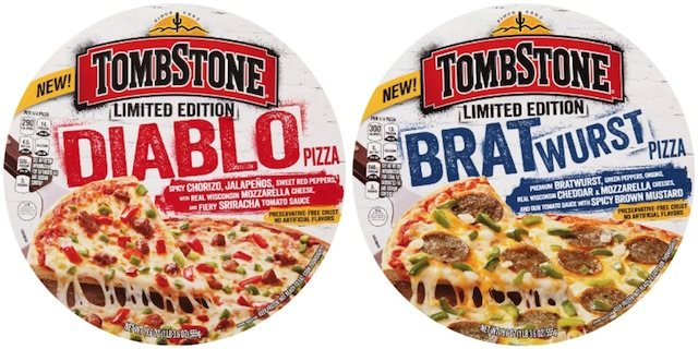 Nestle Tombstone Diablo and Bratwurst pizza