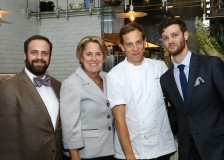Ben Aviram, GM, Maude; Jan DeLyser, VP of marketing, California Avocado Commission; Chef Justin Hilbert, Maude; and Kevin Caravelli, assistant GM, Maude, during CAC's recent Artisan Chef Media Dinner.
