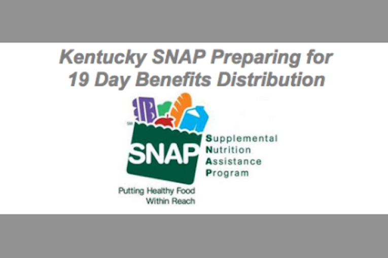 Kentucky Prepares To Expand SNAP Distribution Period From 10 19 Days