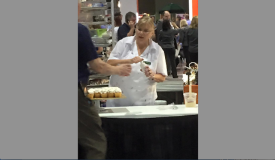 Donna Barley of Publix in Cape Coral, Florida, was hard at work during IDDBA's 2015 expo in Atlanta.