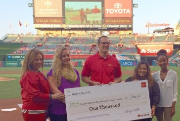 Food Bank Honors Frieda's As 'Community Hero' At Angels Game