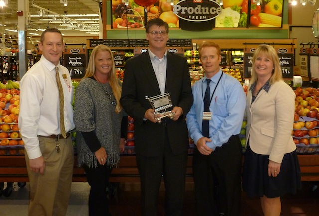 Paul Breiter, Cub Foods; Amy Radermacher, Radermacher Holdings; Sen. Eric Pratt (R-Prior Lake); Paul Radermacher, Radermacher Holdings; and Jamie Pfuhl, president of the Minnesota Grocers Association.