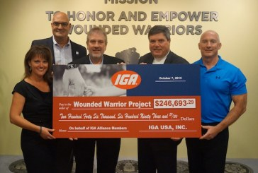 IGA Donates $245K-Plus To Wounded Warrior Project