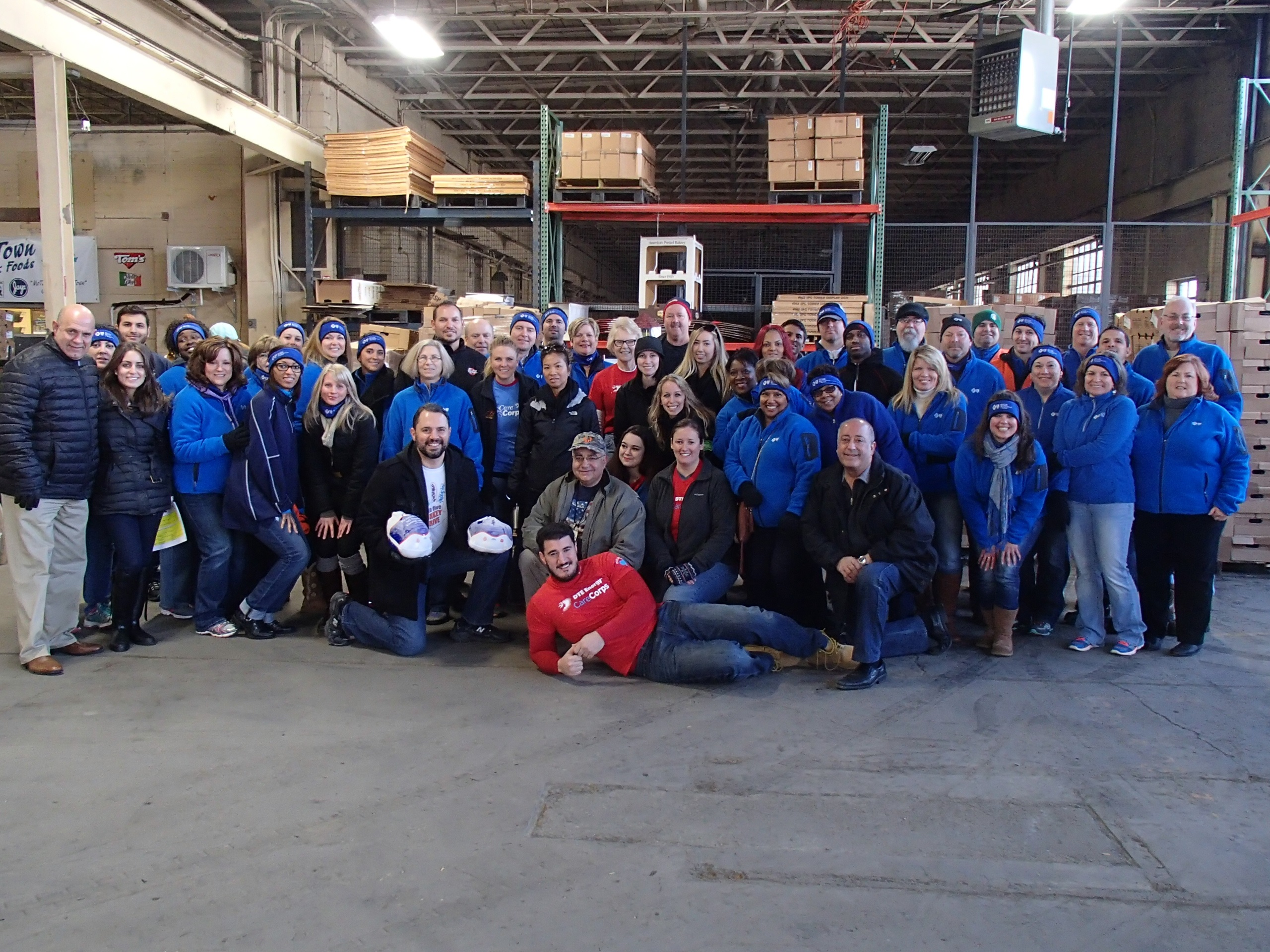 Volunteers from AFPD's turkey drive in Detroit.