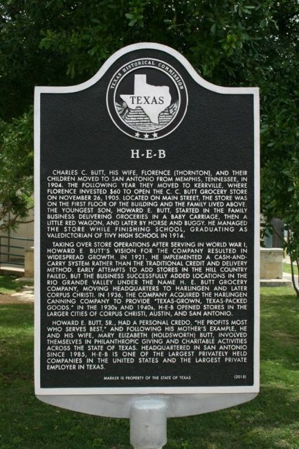 H E B Historical Marker Unveiled In Kerrville Texas Shelby Report
