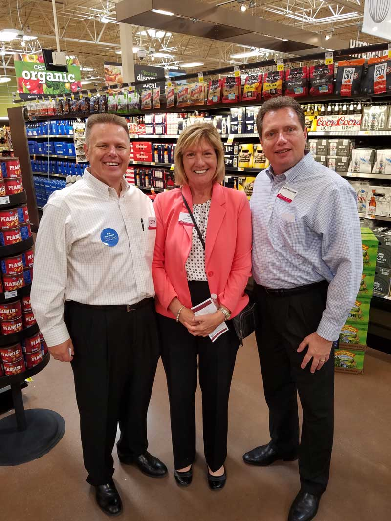 Keith Shoemaker, VP of marketing; Judy Tetmyer, adult beverage category manager; Dave Hausrath, director of grocery.