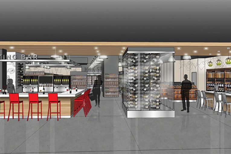 Artistu0027s Rendering Of The New Tasting Bar On The Lower Level Of The Store.