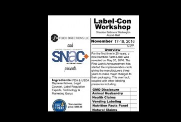 Upcoming Workshop Intends To Help Food Industry Manage Labeling Changes
