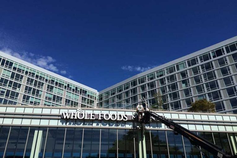 Finishing touches are put on Whole Foods Market's Philly Center City store.