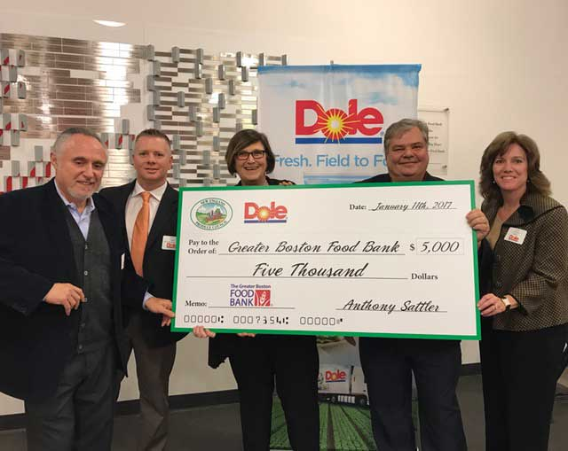 NEPC, Dole Give $5K To Greater Boston Food Bank