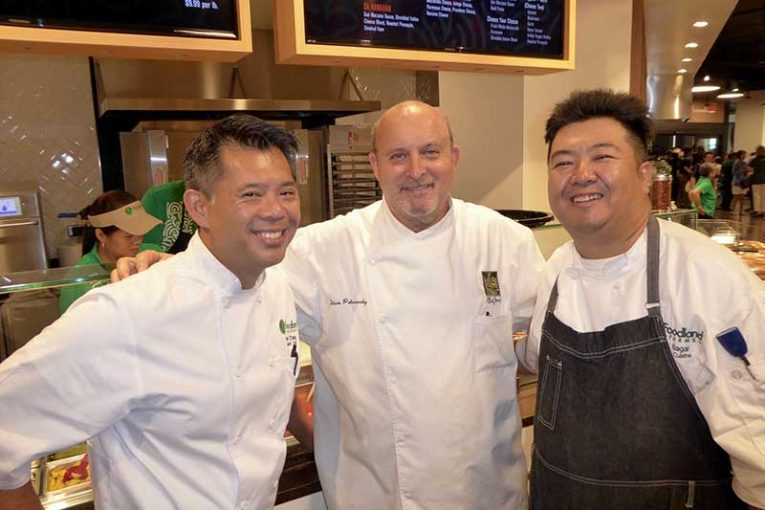 Chefs Keoni Chang, Steve Petusevsky and Brian Negai.