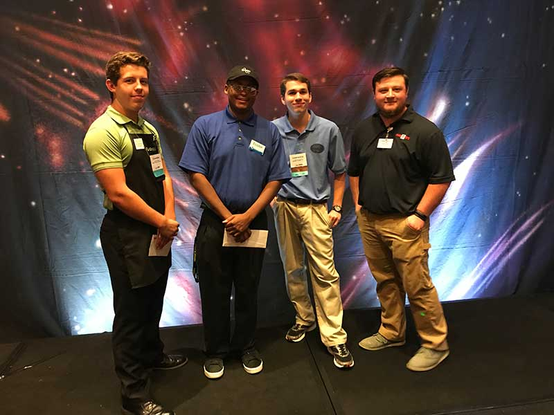 Best bagger competitors included Chandler Wyatt of Publix, Elijah Allahdem of Kroger, Lawrence Buchanan of Quality Foods and Drew Asher of Food City.