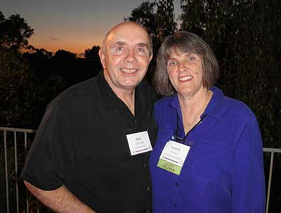 Donna Tyndall with her husband Mike Ketcham.