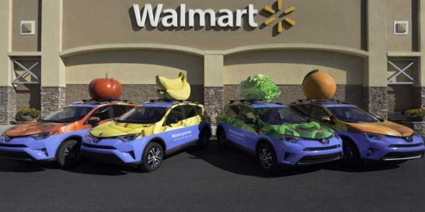 Walmart delivery vehicles