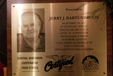 Certco Honors Baryenbruch For Years Of Service As Chairman