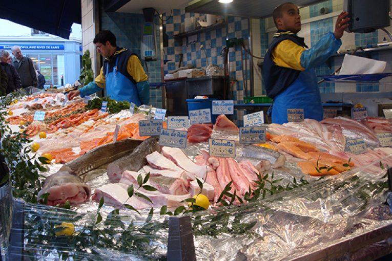 A seafood market