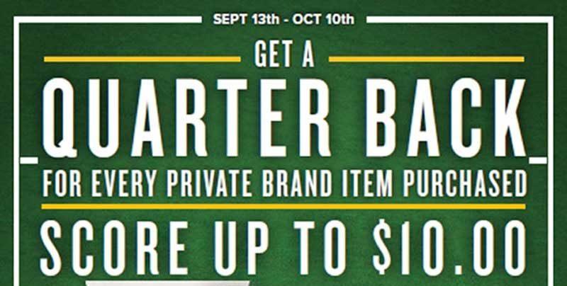 Food Lion 'Quarter Back' Promotion Offers $10 Back On Private Brands