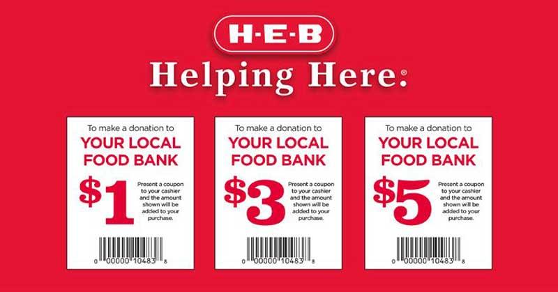 H E B Help End Hunger Tear Pad