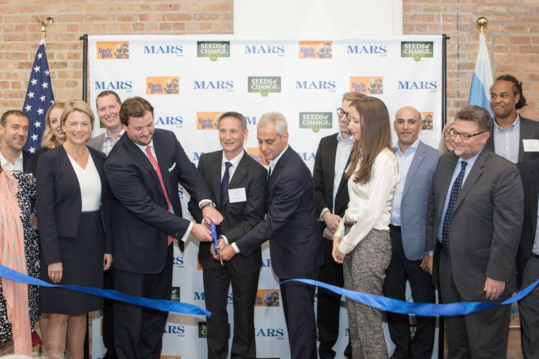 Mars Food Chicago office ribbon cutting
