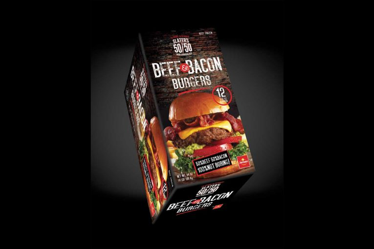 Slater's 50/50 packaged bacon burger patties