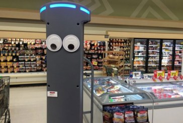 Marty The Robot Checks Floor Conditions, Out-Of-Stocks At Giant Store