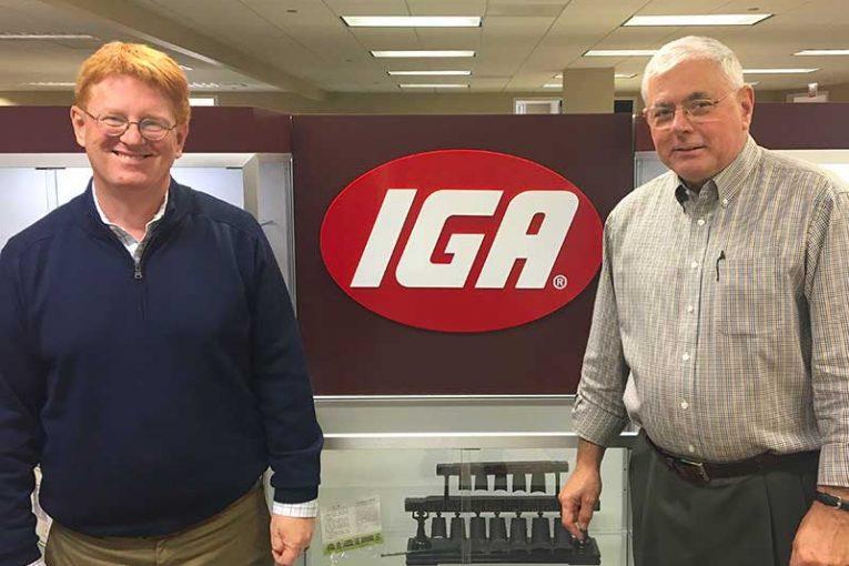 IGA President John Ross and former president Mark Batenic