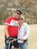 Kevin and Cindy meet up on the bike trail.