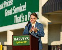 Ken Wicker, Harveys VP, at one of the Lakeland events.