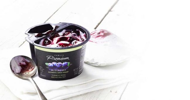 Publix Blueberry Greek Yogurt