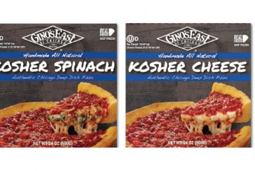 Gino's East Deep Dish Pizzas Honored As 'Best In Show' At Kosherfest