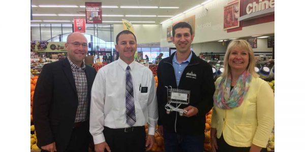 MGA VP Mike Karbo; Hy-Vee Food Store Manager Dan Welsh; Sen. Jeremy Miller; MGA President Jamie Pfuhl.