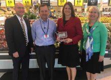 MGA VP Mike Karbo; Cub Foods Store Manager Jeff Bradley; House Majority Leader Joyce Peppin; MGA President Jamie Pfuhl.