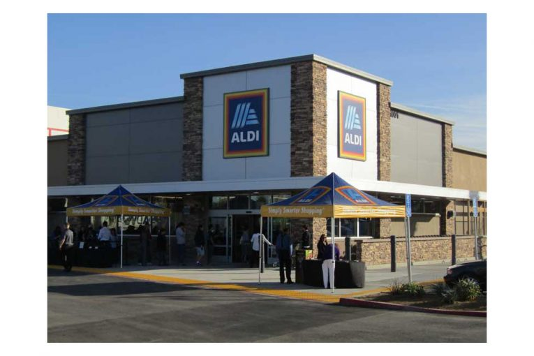The new Aldi in La Habra, California.