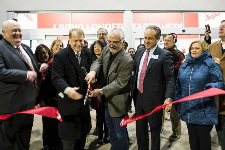The ribbon-cutting at the Earth Fare store in Fairfax, Virginia.